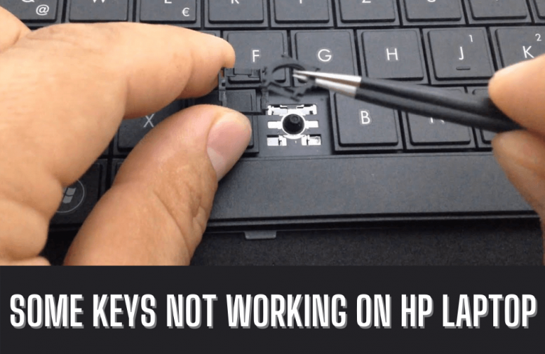 Why are some keys not working on HP laptop